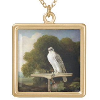 Greenland Falcon (Grey Falcon), 1780 (oil on panel Gold Plated Necklace