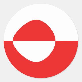 Greenland Fisheye Flag Sticker
