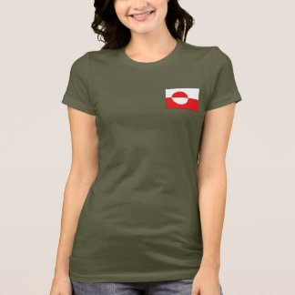 Greenland Flag and Map dk T-Shirt