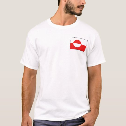 Greenland Flag and Map T-Shirt