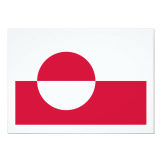 Greenland Flag Coat of Arms Custom Announcements