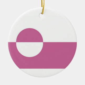 Greenland Flag Double-Sided Ceramic Round Christmas Ornament