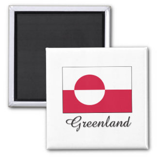 Greenland Flag Design Fridge Magnet