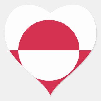 Greenland Flag GL Heart Sticker