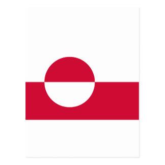 Greenland Flag GL Postcard