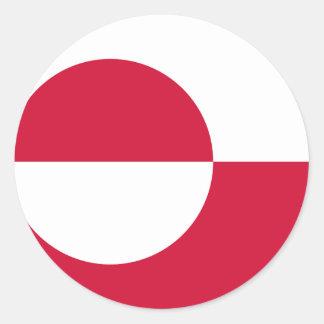 Greenland Flag GL Round Sticker