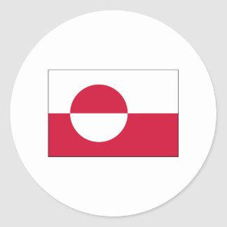 Greenland FLAG International Round Sticker