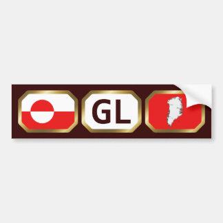 Greenland Flag Map Code Bumper Sticker