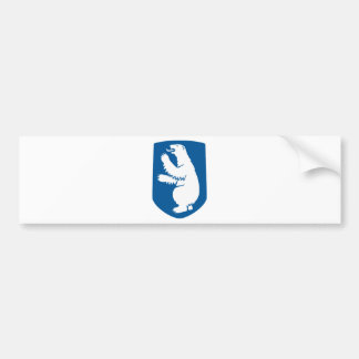 Greenland Flag Map GL Bumper Sticker