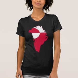 Greenland Flag Map GL Tee Shirt