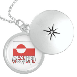 Greenland Flag & Name Locket Necklace