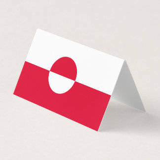 Greenland Flag Place Card