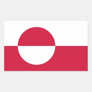 Greenland Flag Rectangular Sticker