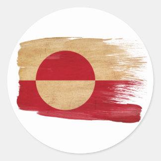 Greenland Flag Round Sticker