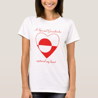 Greenland Flag Sweetheart T-Shirt