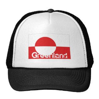 Greenland flag trucker mesh souvenir hat