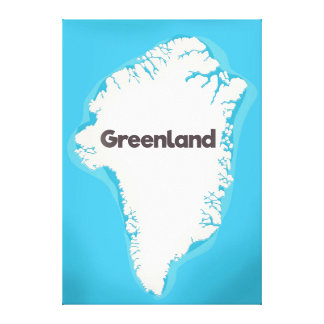 Greenland map canvas print