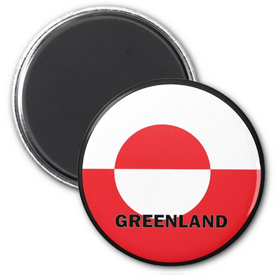 Greenland Roundel quality Flag 6 Cm Round Magnet