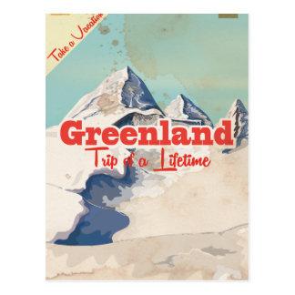 Greenland vintage travel poster postcard