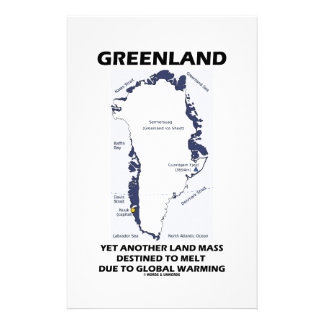 Greenland Yet Another Land Mass Destined To Melt Customised Stationery