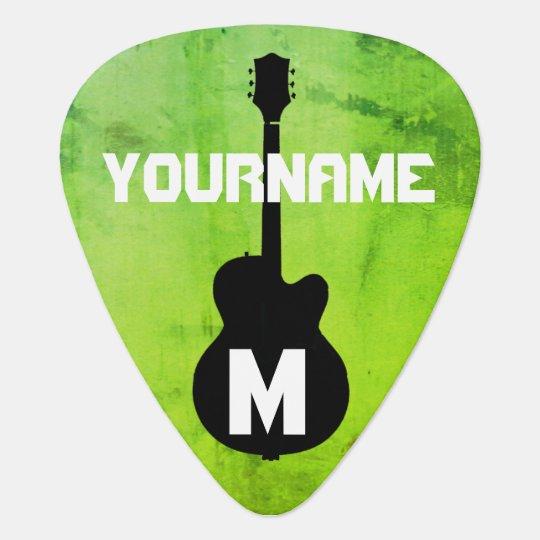 greenleaf, personalised guitar pick