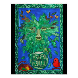 Greenman Art Poster