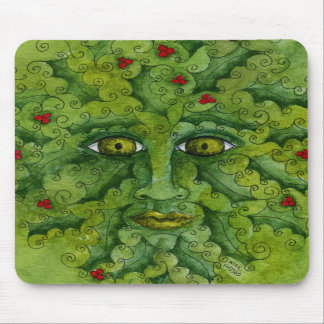Greenman Holly Mousepad