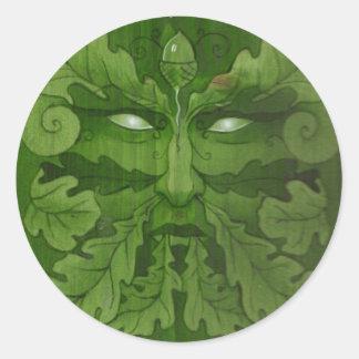 greenman master classic round sticker