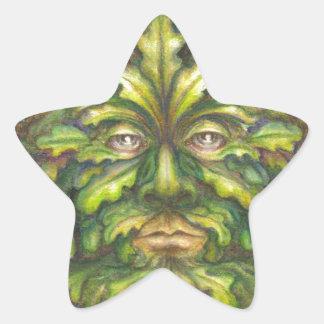 Greenman Star Stickers