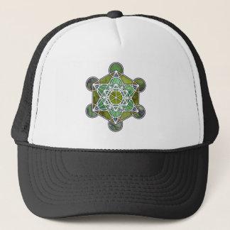 GreenMetatronCube Trucker Hat