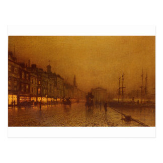 Greenock Dock by John Atkinson Grimshaw Postcard