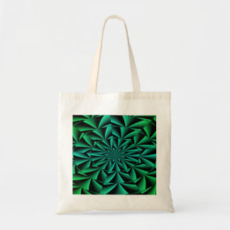 Greens and Blues Round Optical Illusion Bags