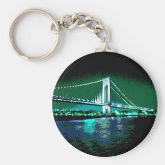 Greens & Blues Bridge keychain