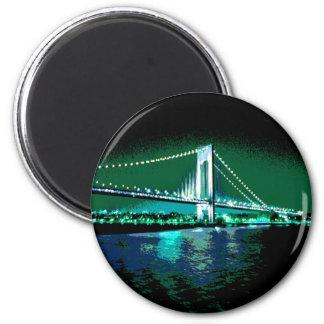 Greens & Blues Bridge magnet