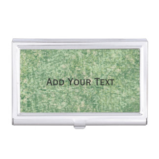 Greens Textured by Shirley Taylor Business Card Holder