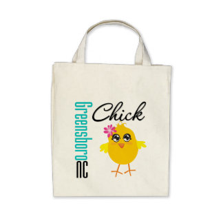 Greensboro NC Chick Canvas Bag