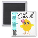 Greensboro NC Chick Fridge Magnet