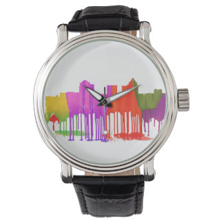 GREENSBORO, NC SKYLINE - PUDDLES - WRISTWATCH