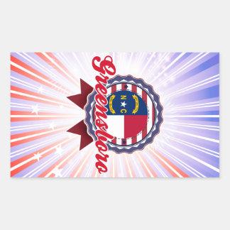 Greensboro, NC Rectangular Stickers