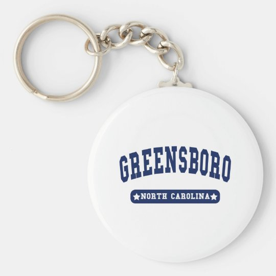 Greensboro North Carolina College Style tee shirts Basic Round Button Key Ring