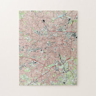 Greensboro North Carolina Map (1997) Jigsaw Puzzle
