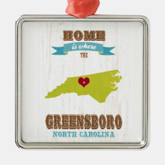 Greensboro, North Carolina Map – Home Is Where The Christmas Ornament