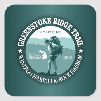 Greenstone Ridge Trail (rd) Square Sticker