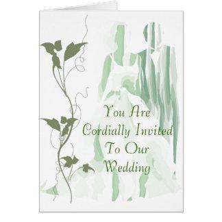 GreenStyle Wedding Invitation Greeting Card