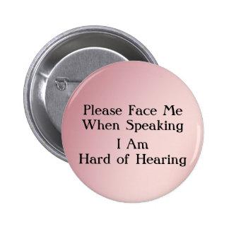 Greentone Hard of Hearing Button
