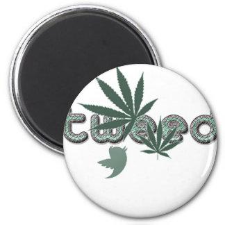 greentweed.png 6 cm round magnet
