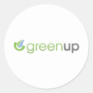 GreenUp Horizontal Logo Round Sticker