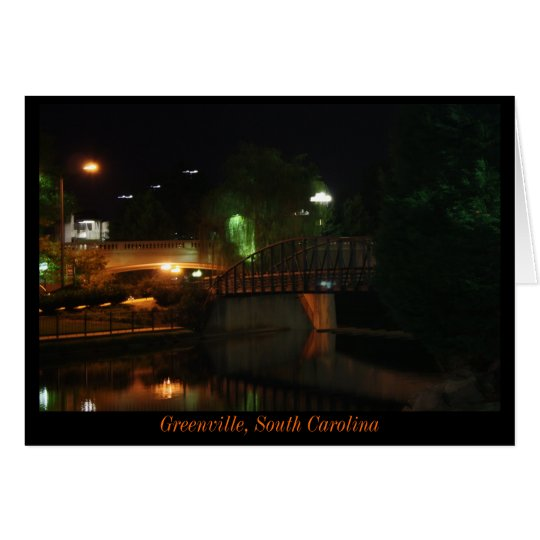 Greenville at Night Card