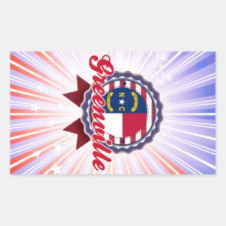 Greenville, NC Rectangular Sticker
