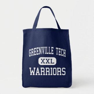 Greenville Tech - Warriors - Charter - Greenville Tote Bags